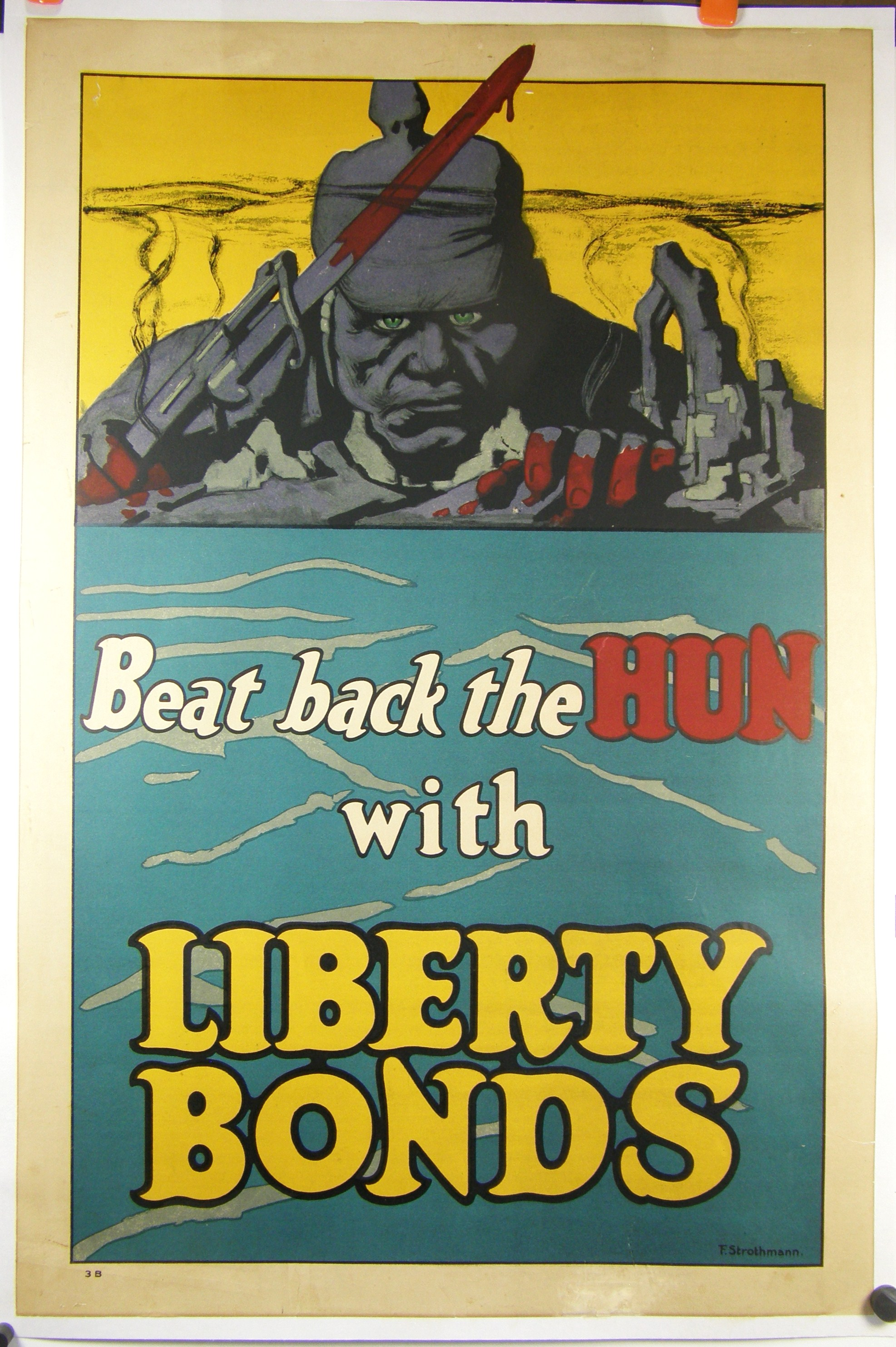 Ww1 Poster Beat Back The Hun By Frederick Strothmann
