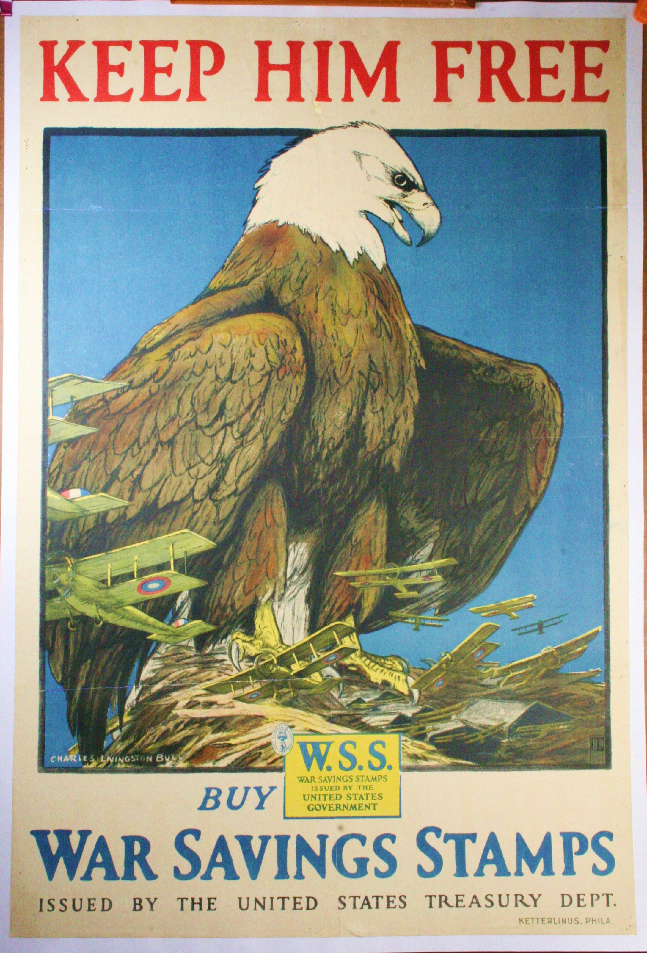 Ww1 Poster Keep Him Free Designed By Charles