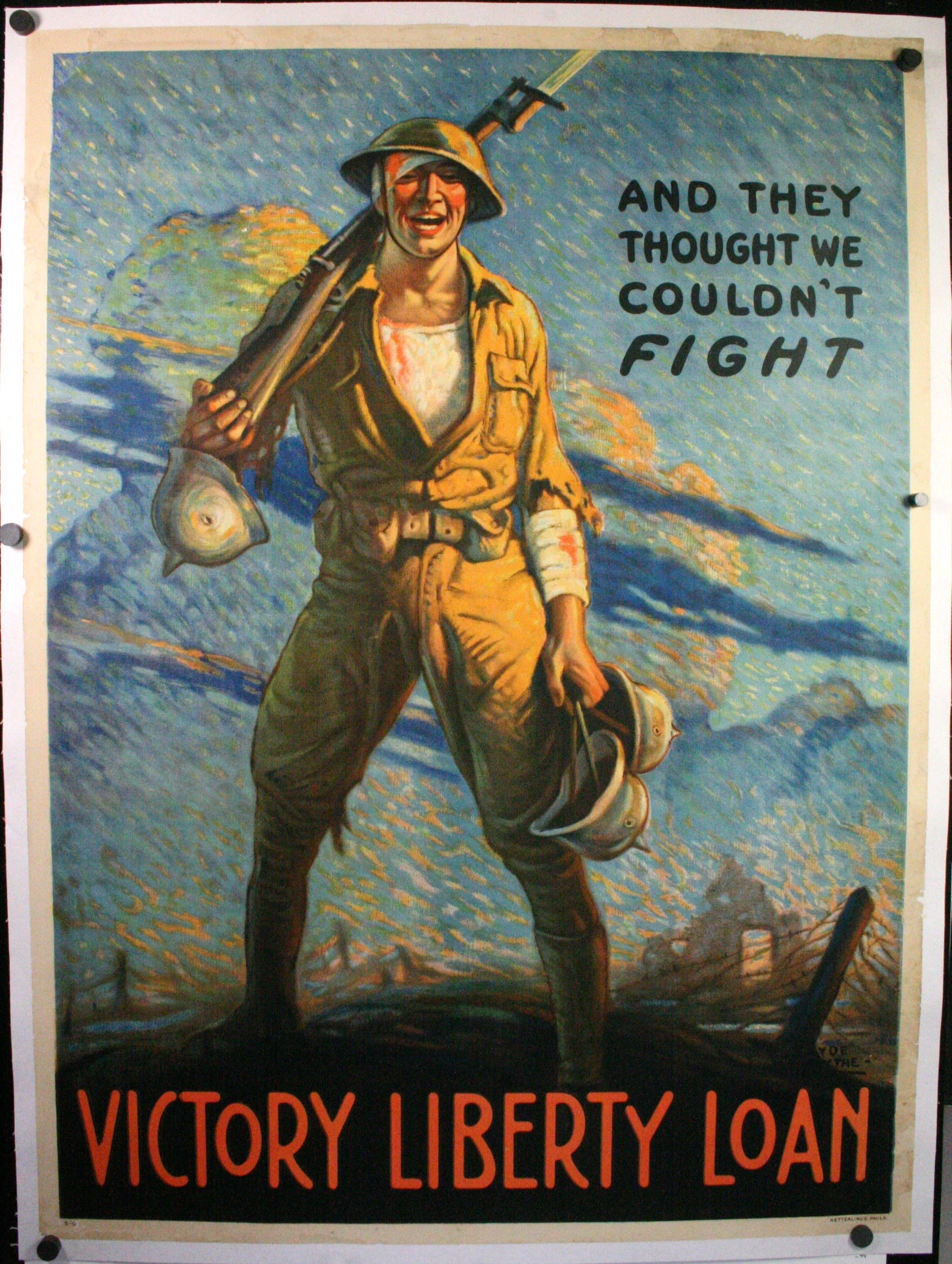And They Thought We Couldn T Fight Ww1 Propaganda Poster