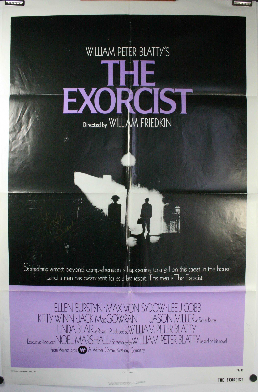 THE EXORCIST, Linda Blair Original Autpgraphed Vintage 1 sheet Movie Poster