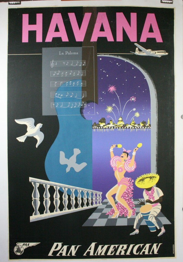 Vintage Travel Posters Pan AM Havana
