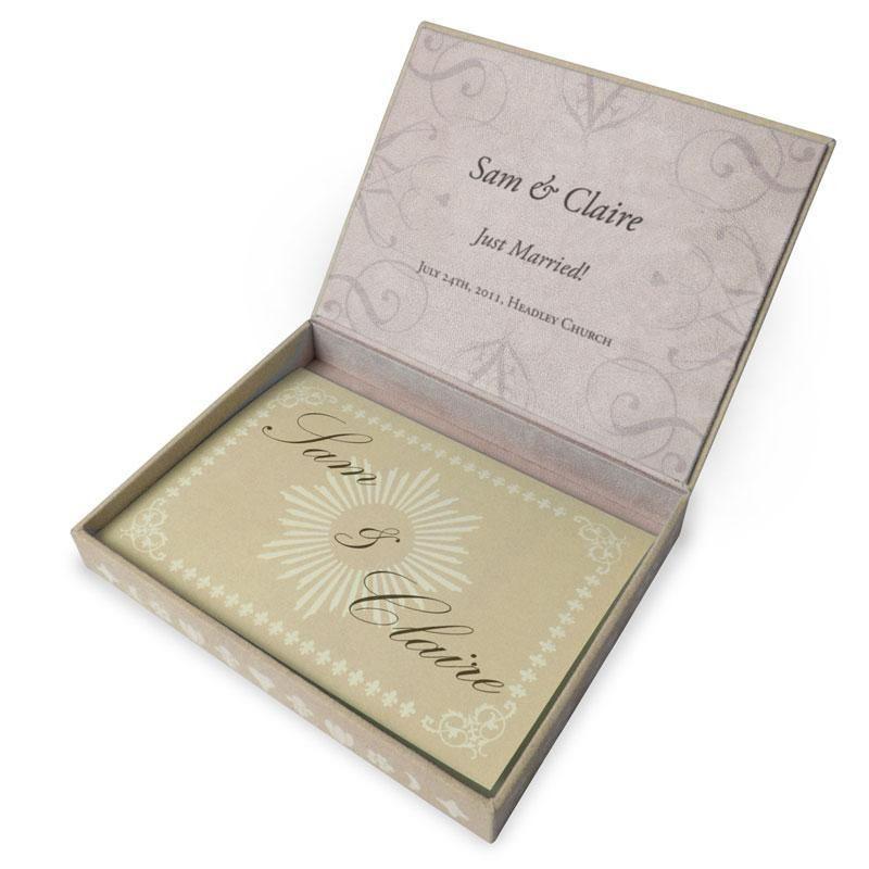 Geschenkbox zur Hochzeit mit Gutschein oder fr Geldgeschenke