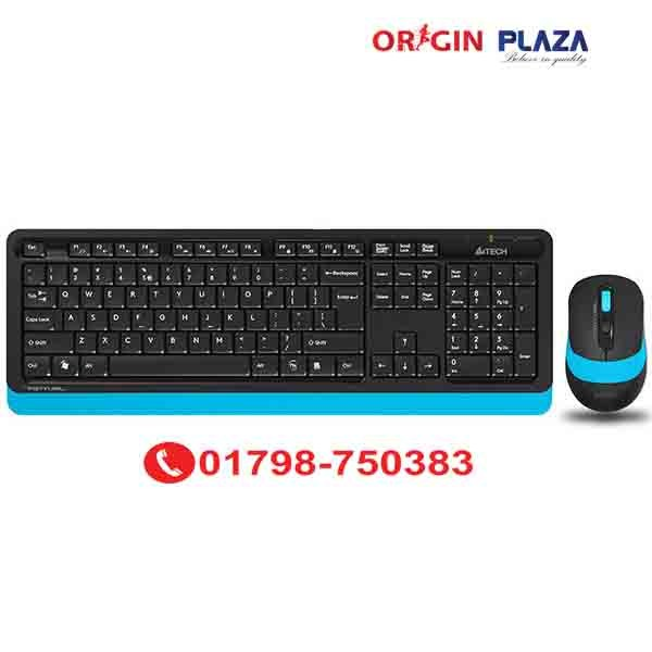 A4TECH FG1010 WIRELESS KEYBOARD AND MOUSE Blue price in bangladesh