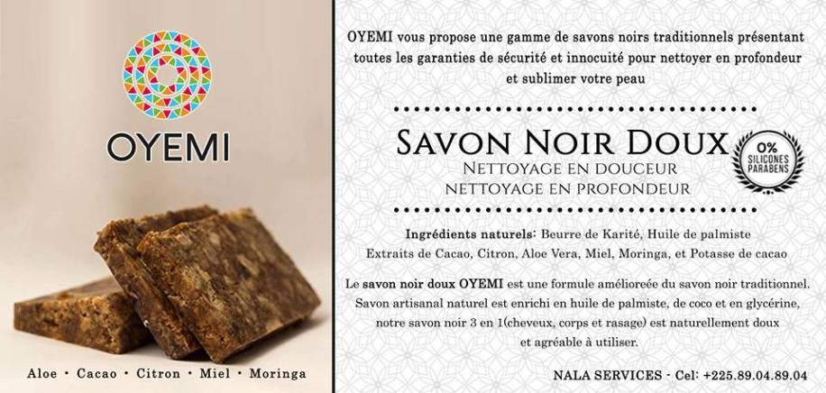OYEMI-Savon Noir Doux sera présent au Marché Artisanal et Bio - Made in Africa