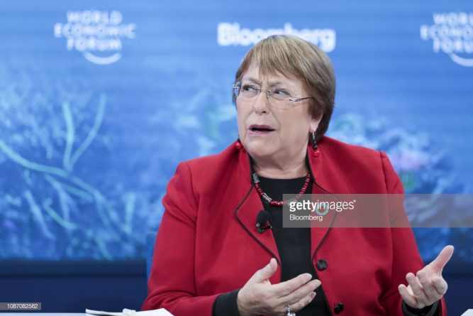 """""""Peaceful Solution"""": Bachelet Does Not Support Self Proclamation of Guaido"""