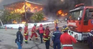 Venezuela Denounced Terrorist Act in a Social Security's Warehouses (images)