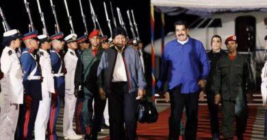 Evo met With Maduro