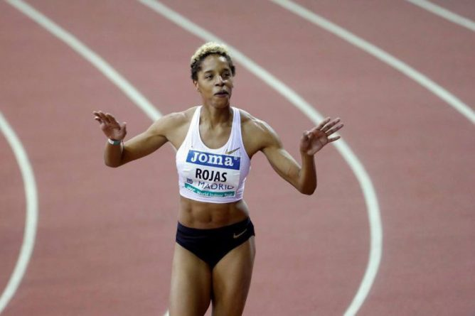 Yulimar Rojas won the gold medal in Dusseldorf