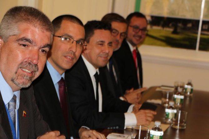 Chancellor Arreaza held a meeting with UN Secretary General