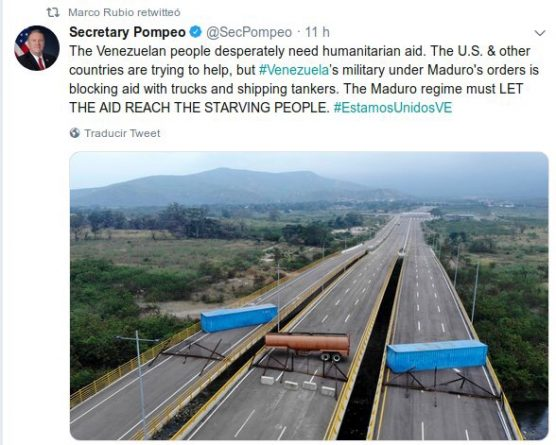 Diosdado Cabello to Marco Rubio: Las Tienditas Bridge has Never Entered into Operation