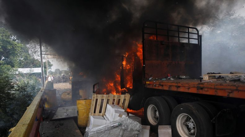 Venezuela Aid Truck Torched by Protesters, Mass Media Finally Admit… But of Course Maduro's Still to Blame