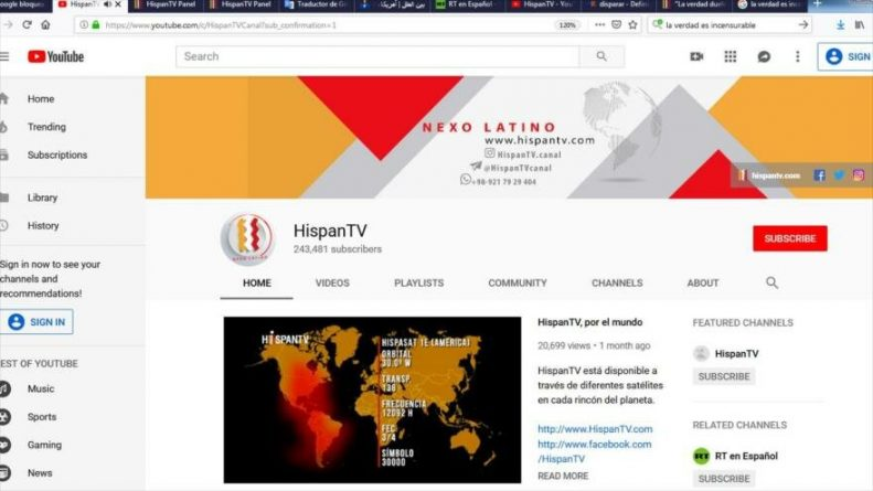 HispanTV Censored by Google - Will This Add or Subtract Followers?
