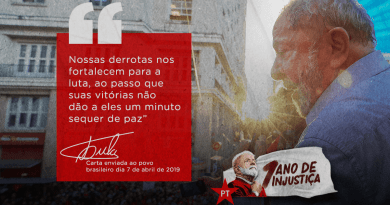 "Lula's Letter After One Year in Prison: ""I am a Political Prisoner Exiled in my Own Country"""