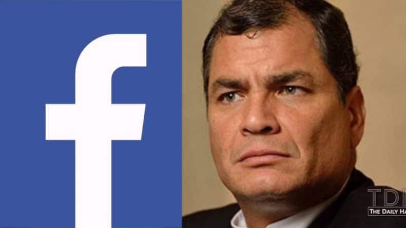 Facebook Removes Page of Ecuador's Former President on Same Day as Assange's Arrest