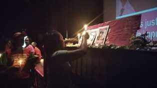 Tribute in the Cultural Center in Parque Central, Caracas. (Carolina Cruz / CRBZ Press)