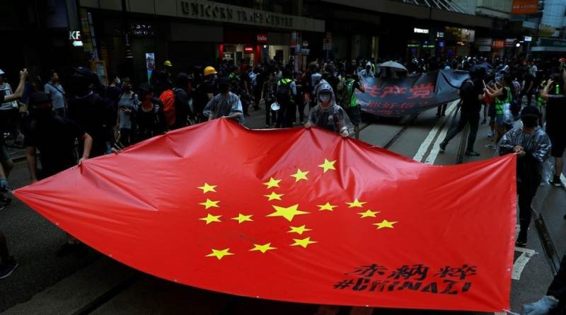 "Pro-Hong Kong Rally in DC Against ""CHINAZI Regime"" Being Sponsored with US Govt-linked Money"