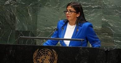 Delcy Rodríguez at the UN: 350+ Sanctions Have Stripped Venezuela of 130 Billion Dollars Since 2015 (+ Video)
