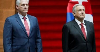 """""""Cuba, Yes,"""" People Shout as Diaz-Canel Arrives in Mexico City"""