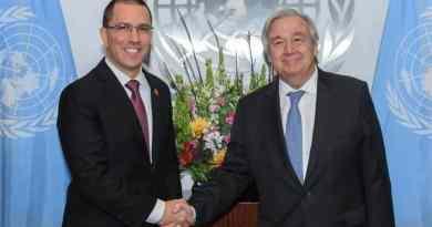 Chancellor Arreaza Met with UN Secretary General Antonio Guterres