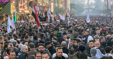 Huge Crowds of Iraqi Mourners Join Gen. Soleimani's Funeral Procession