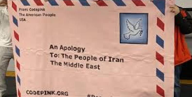Americans Send Apology Letter to Iranian Nation for Trump's Aggression (CODEPINK)