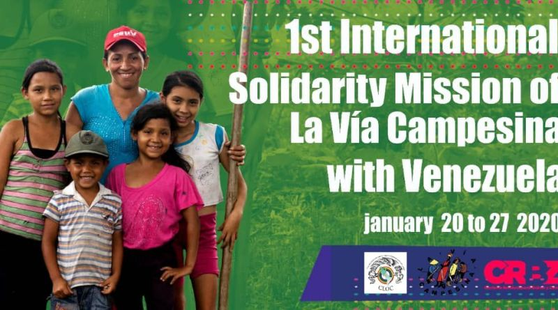 La Via Campesina in Venezuela: A Mission for the Brotherhood, Solidarity and Truth of the People