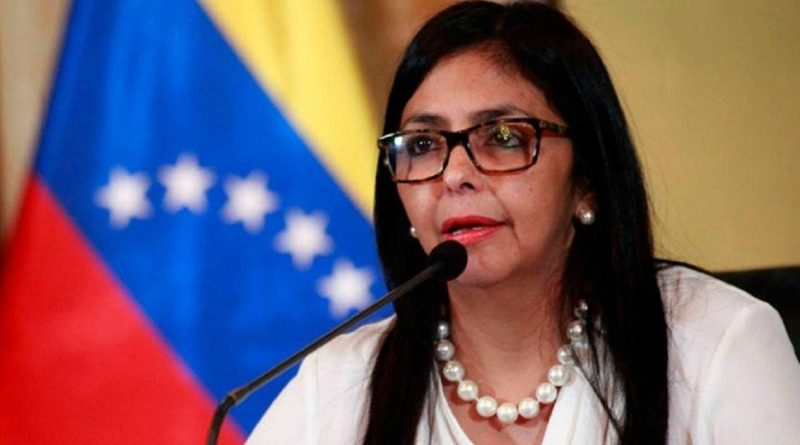 Delcy Rodriguez Accuses Spanish Right of Double Standards for Supporting Guaidó