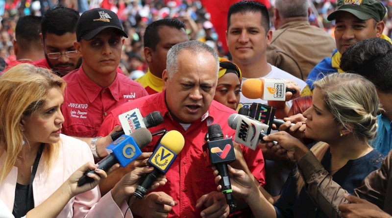 Diosdado Cabello: What Happened Yesterday at Guaido's Arrival is a Spontaneous Reaction of an Indignant People