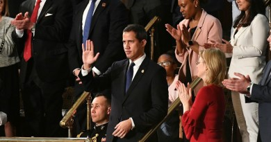 """""""No Better Distillation of Washington"""": Democrats and GOP Join Trump in Standing Ovation for Failed Venezuelan Coup Leader Juan Guaidó"""