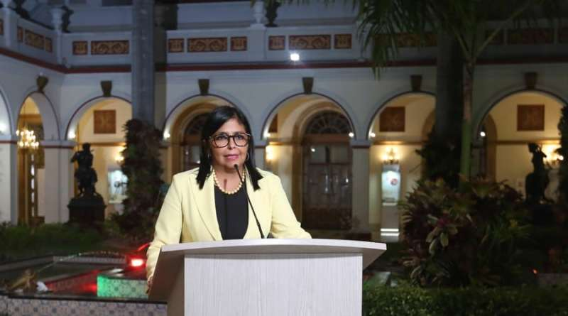 Delcy Rodríguez: 15 New Covid-19 Confirmed Cases  in Venezuela -  Total 106