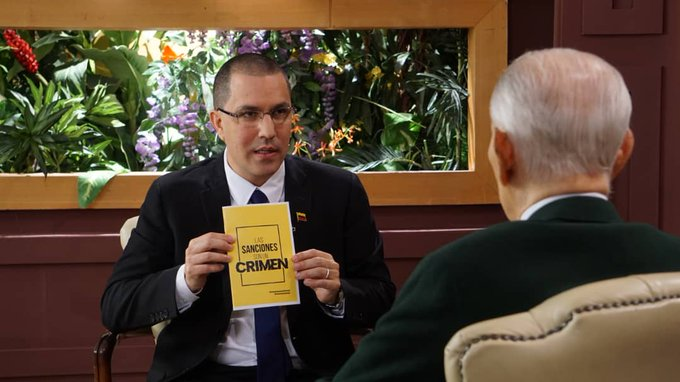 Chancellor Arreaza Urges the US to Cease its Policy of Criminal Sanctions in the Face of Covid-19