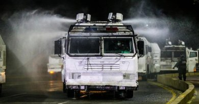 Venezuela: Anti-Riot Vehicles to Carry Out Disinfection Work in High-Risk Areas (Covid-19)