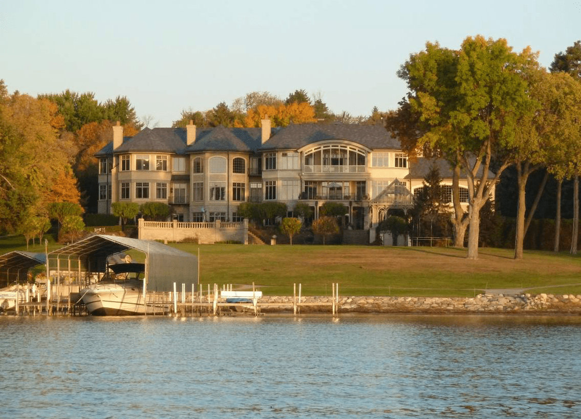 Photo of home with lakefront property