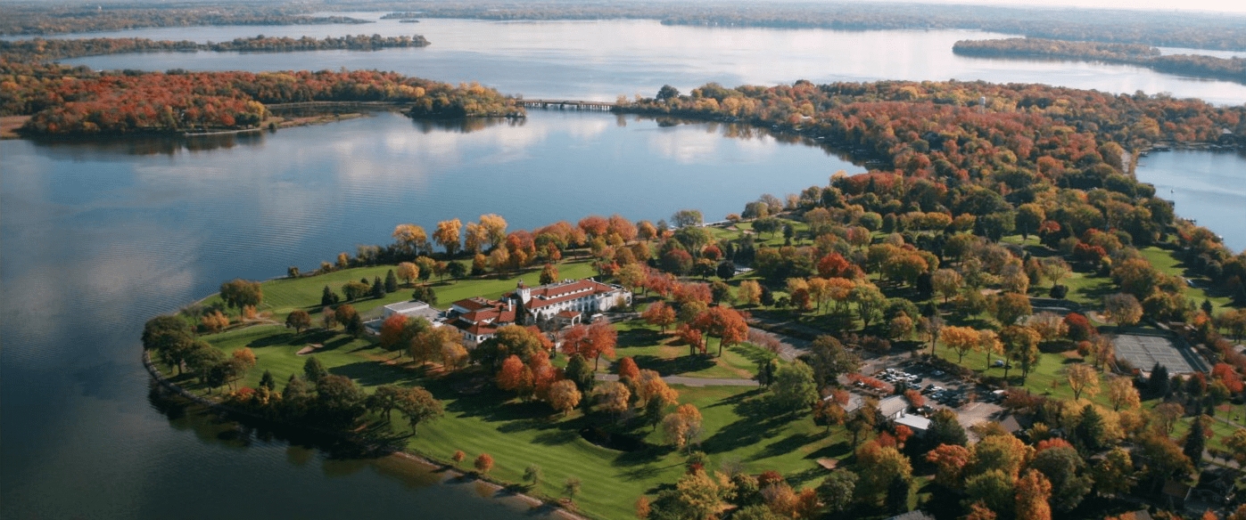 Photo of lake minnetonka homes in autumn