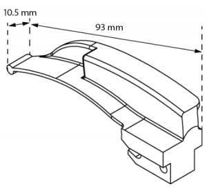 Stellar Series™ Laryngoscope Blades (Macintosh Profile) Size 1