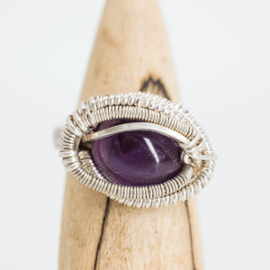 AMETHYST ORBIT RING