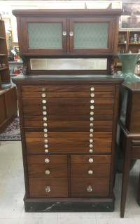 Antique dental cabinet, rare Coca