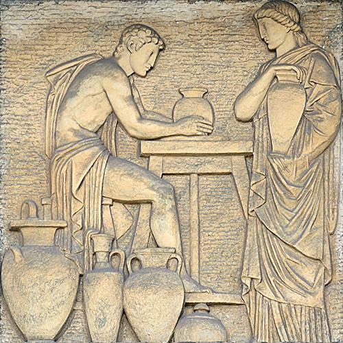 A cerâmica.