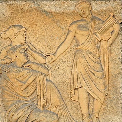 O próprio Apolo e sua lira representam a Música.