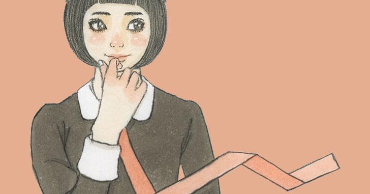 足の小指をぶつける黒いワンピース女の子イラストうろといろ