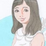 【女の子イラスト】小さい天使の羽根の女の子3