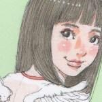【女の子イラスト】小さい天使の羽根の女の子