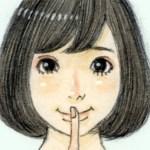 【女の子イラスト】ナイショの話