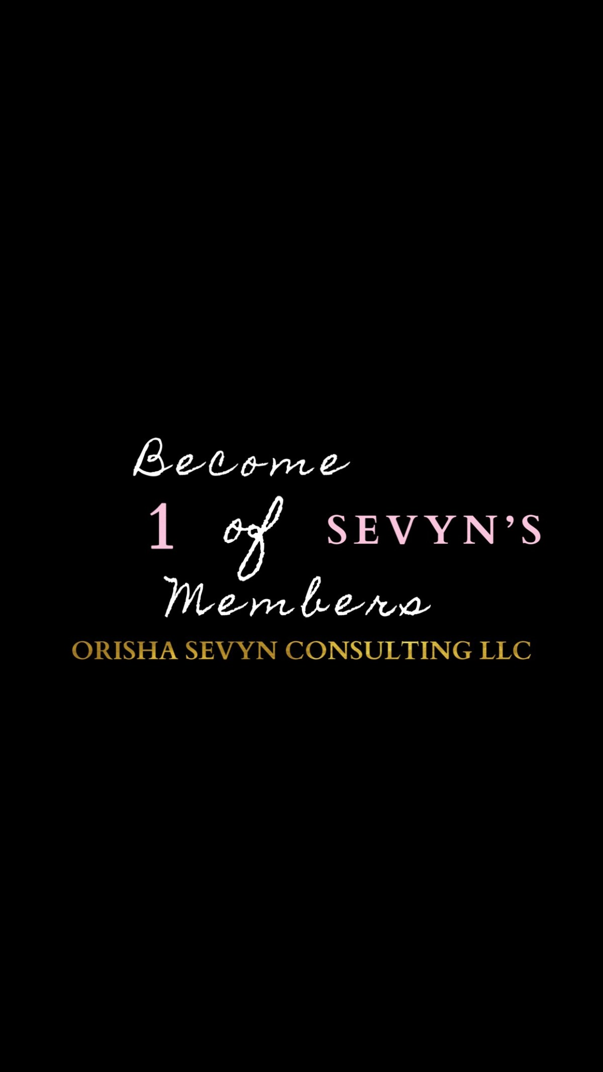 Now Accepting Men for 1 of Sevyn's Membership