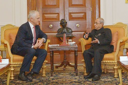 Turnbull works on strategic ties in India