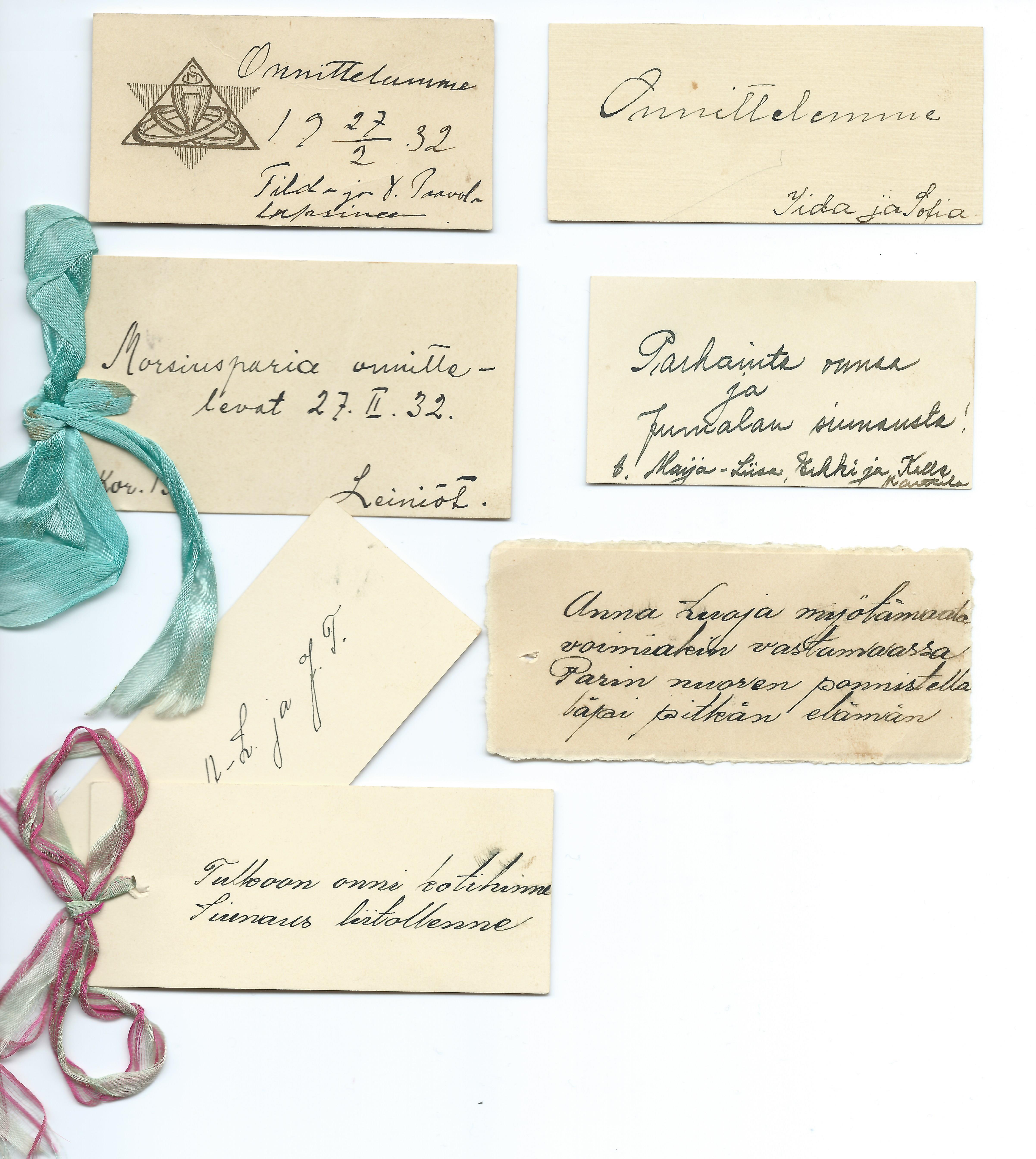 Haat_lahjalipukkeita 1932.