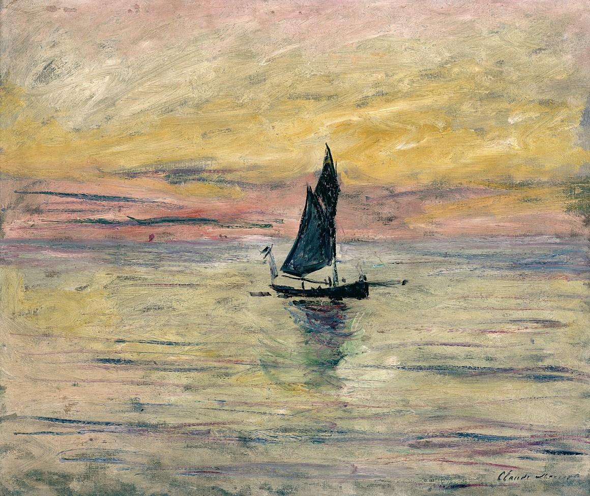 Claude Monet (1840-1926) Barca a vela. Effetto sera, 1885 Olio su tela, 54x65 cm Parigi, Musée Marmottan Monet © Musée Marmottan Monet
