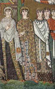 Mosaico da San Vitale a Ravenna (Di Meister von San Vitale in Ravenna - The Yorck Project (2002) 10.000 Meisterwerke der Malerei (DVD-ROM), distributed by DIRECTMEDIA Publishing GmbH. ISBN: 3936122202., Pubblico dominio, https://commons.wikimedia.org/w/index.php?curid=155438)