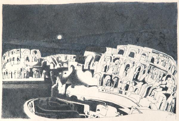 Gerhard Gutruf Colosseo nella Luna