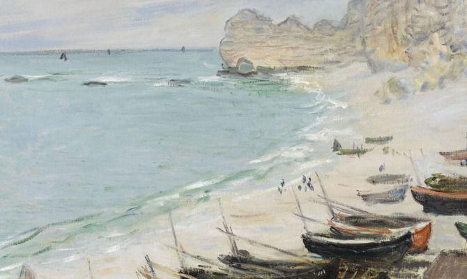 Monet, Barche sulla spiaggia